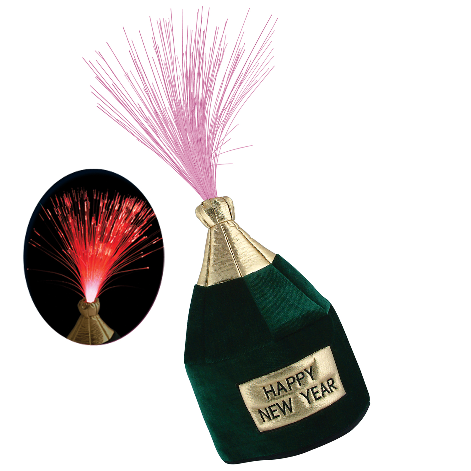 Light-Up HNY Bottle Head Hat