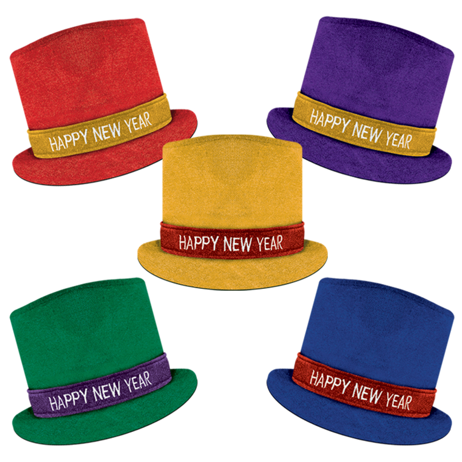 Glitz 'N Sparkle HNY Top Hat asstd