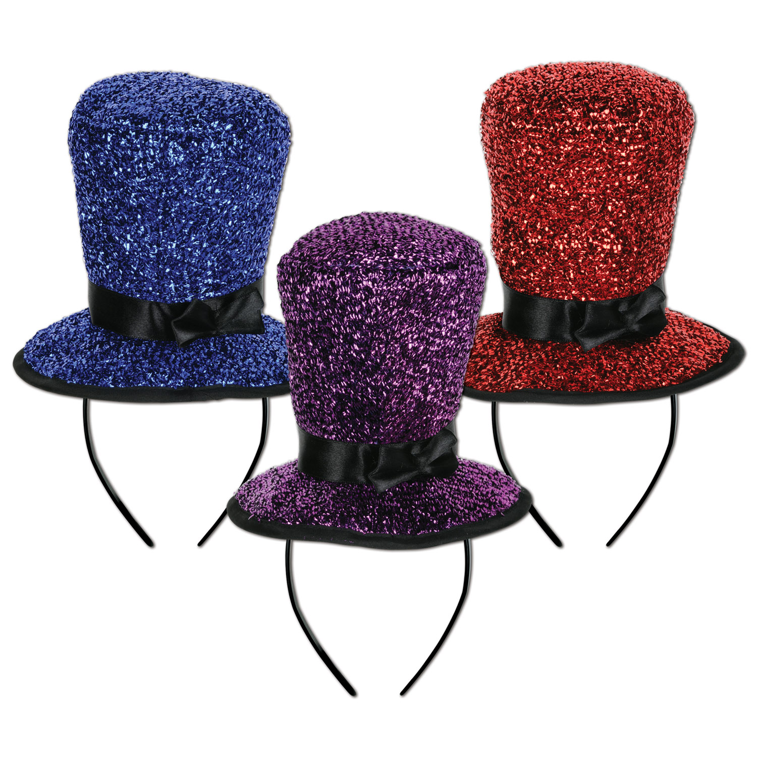 Sparkling Top Hat Headbands asstd