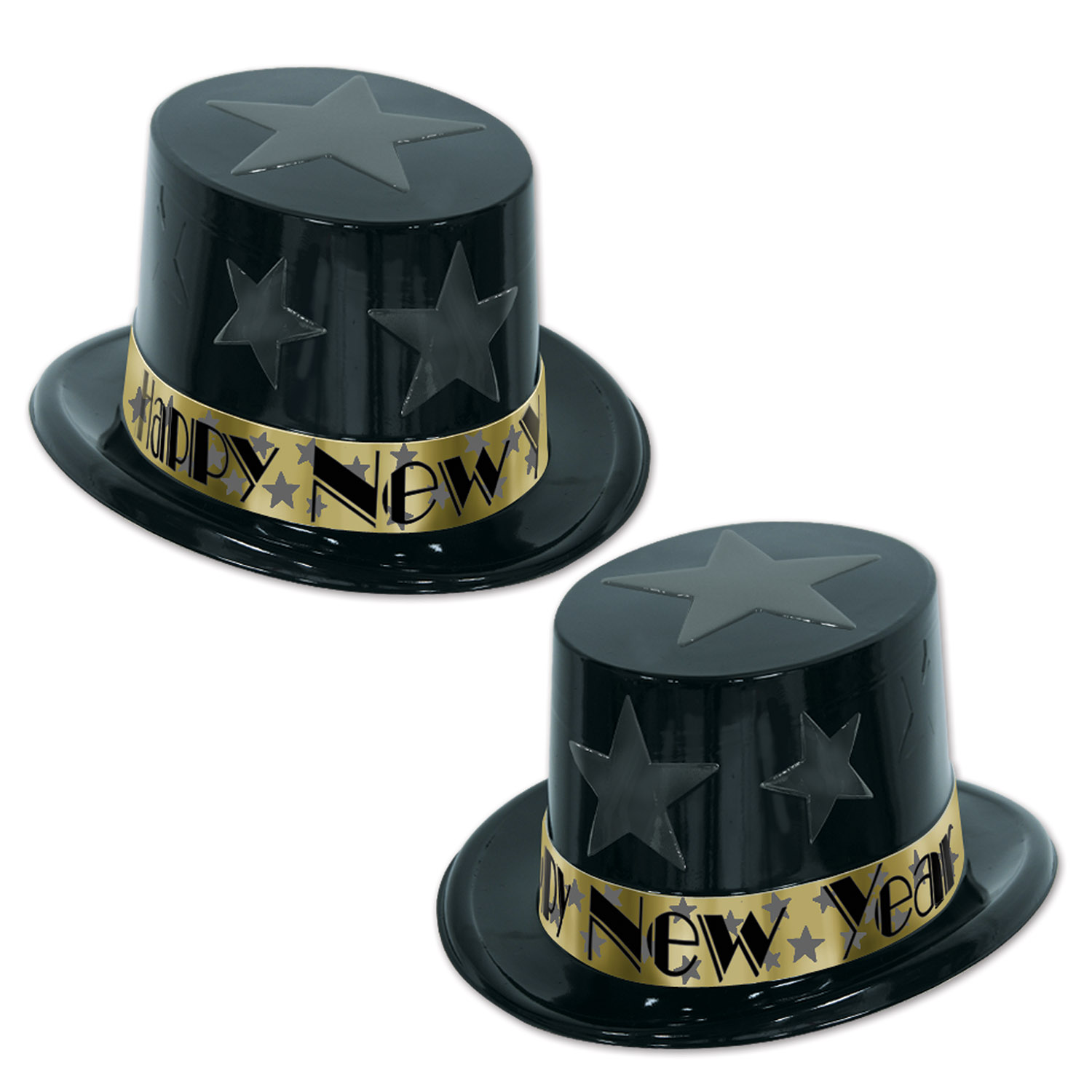 New Year Star Topper black & gold