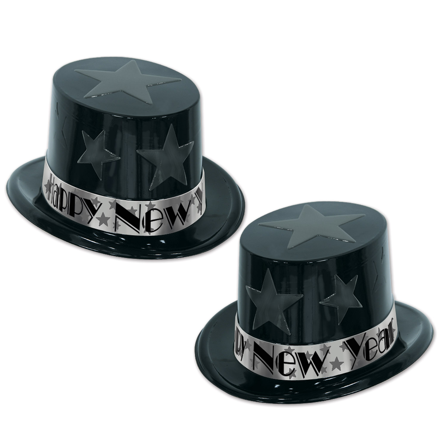 New Year Star Topper black & silver