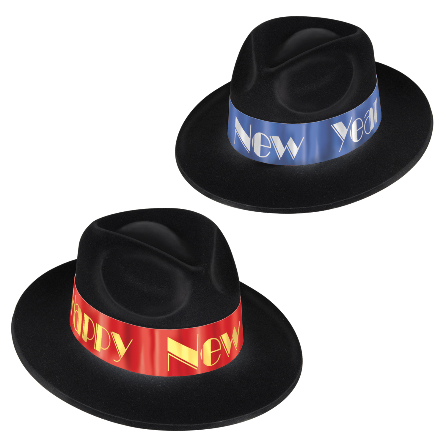 Fire & Ice Fedoras black asstd blue & red
