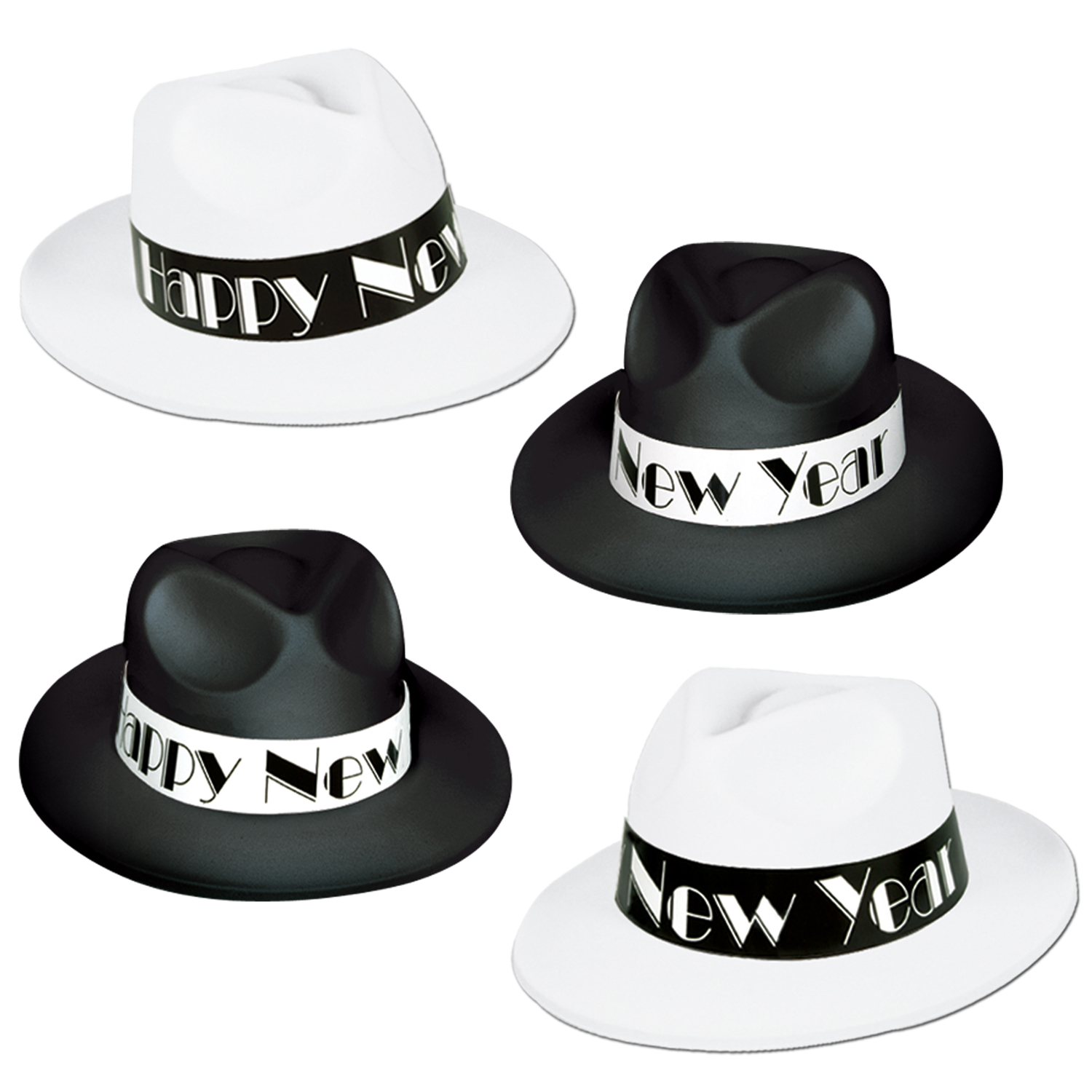 Chicago Swing Fedoras asstd black & white