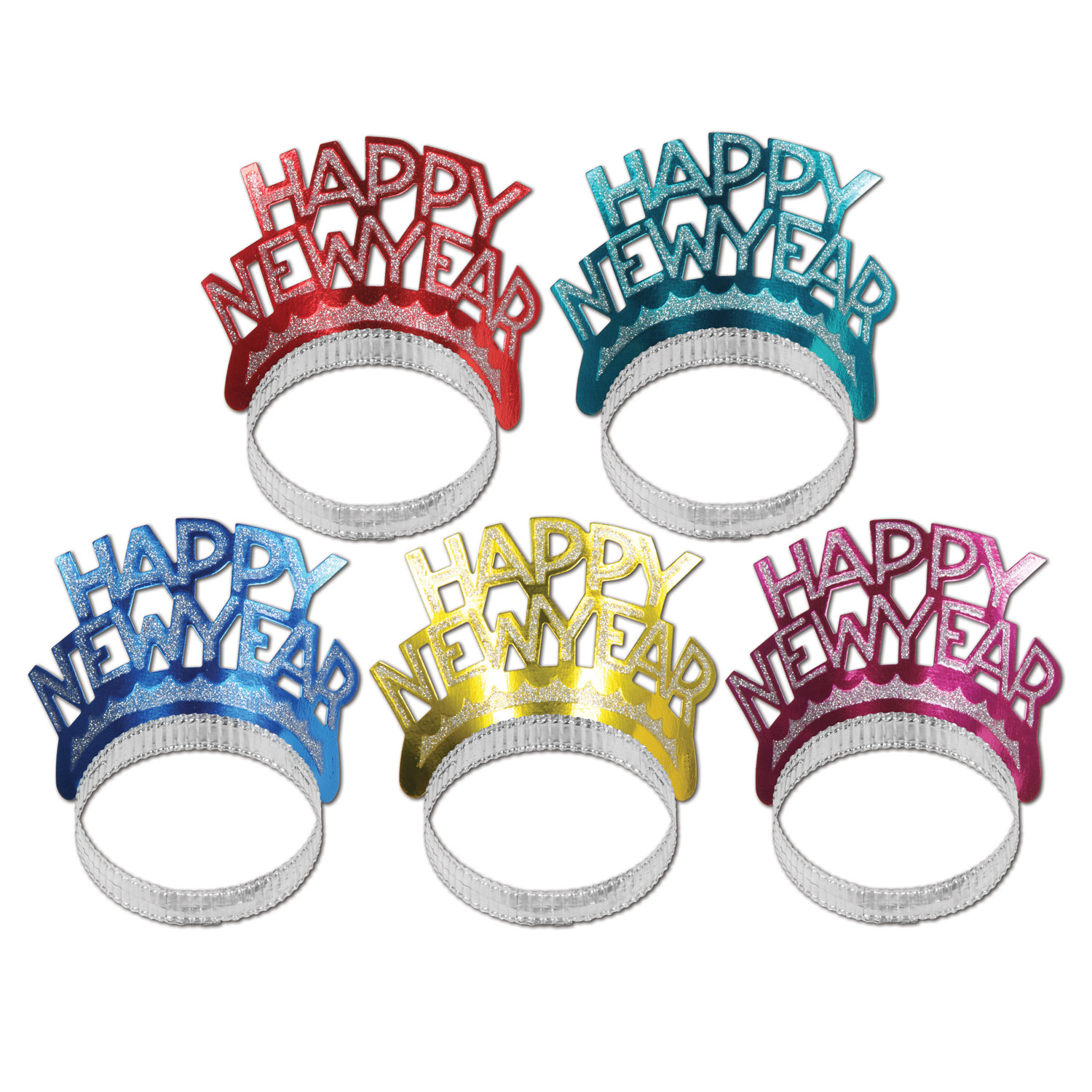 Happy New Year Tiaras asstd