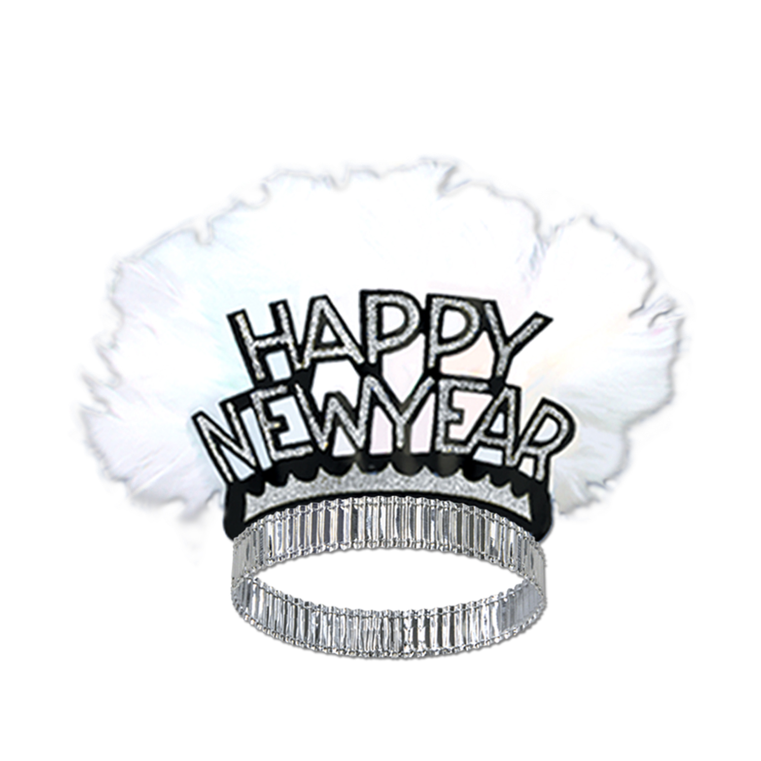 HNY Bird Of Paradise Tiara black & silver