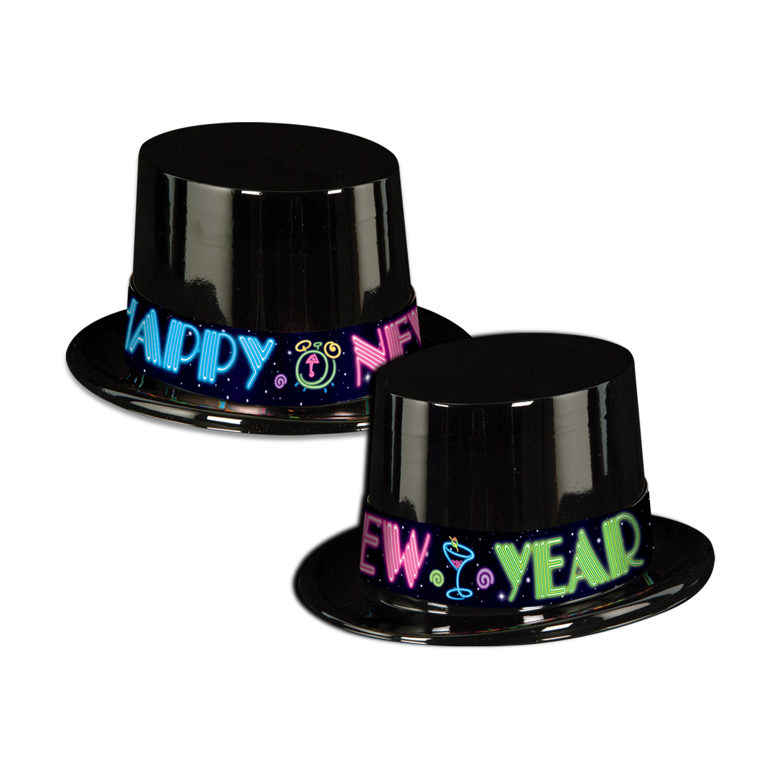 Neon Party Topper black