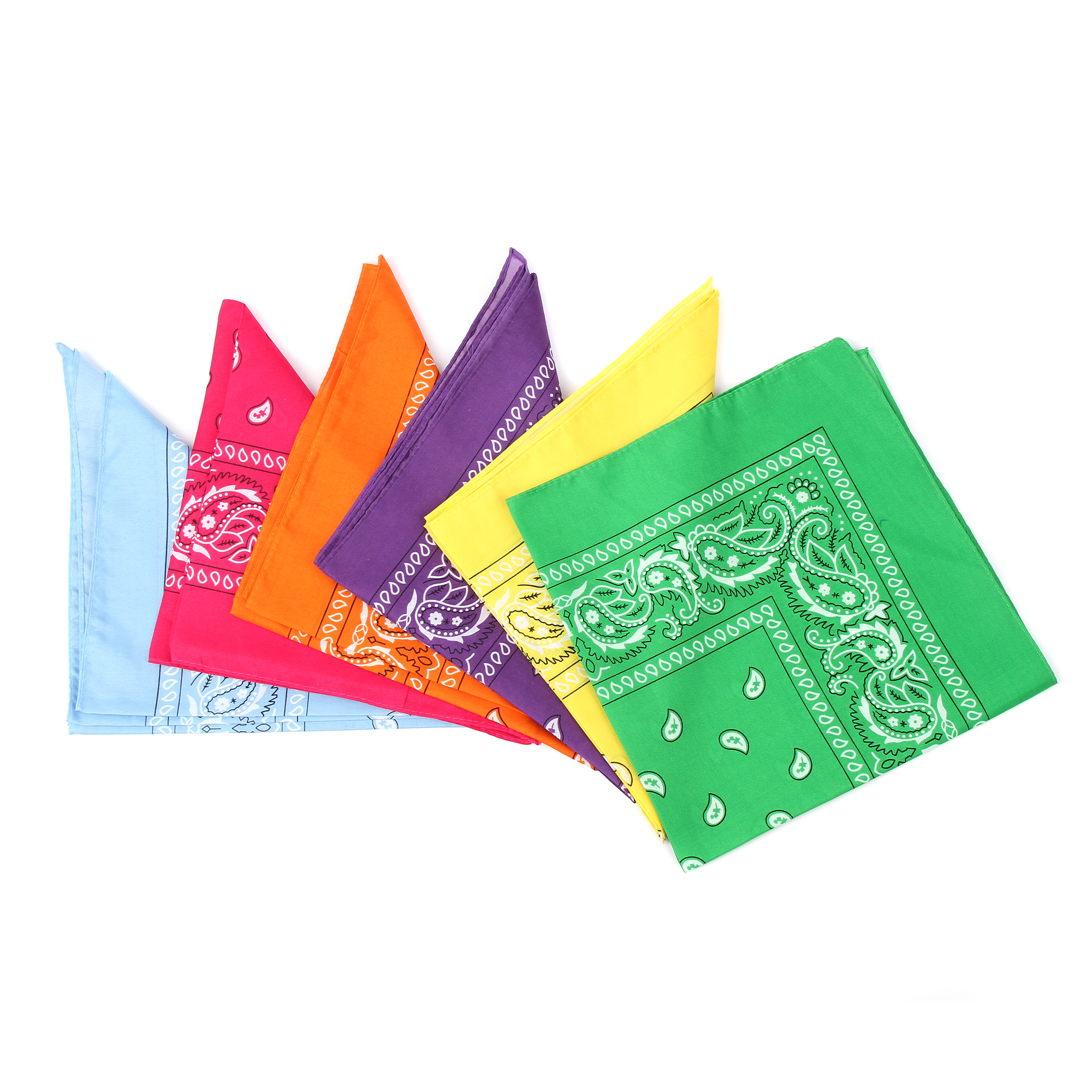 21 Inch Neon Bandana - Assorted