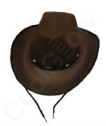 Brown Felt Studded Cowboy Hat