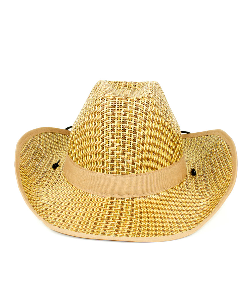 Roll Up Straw Cowboy Hat