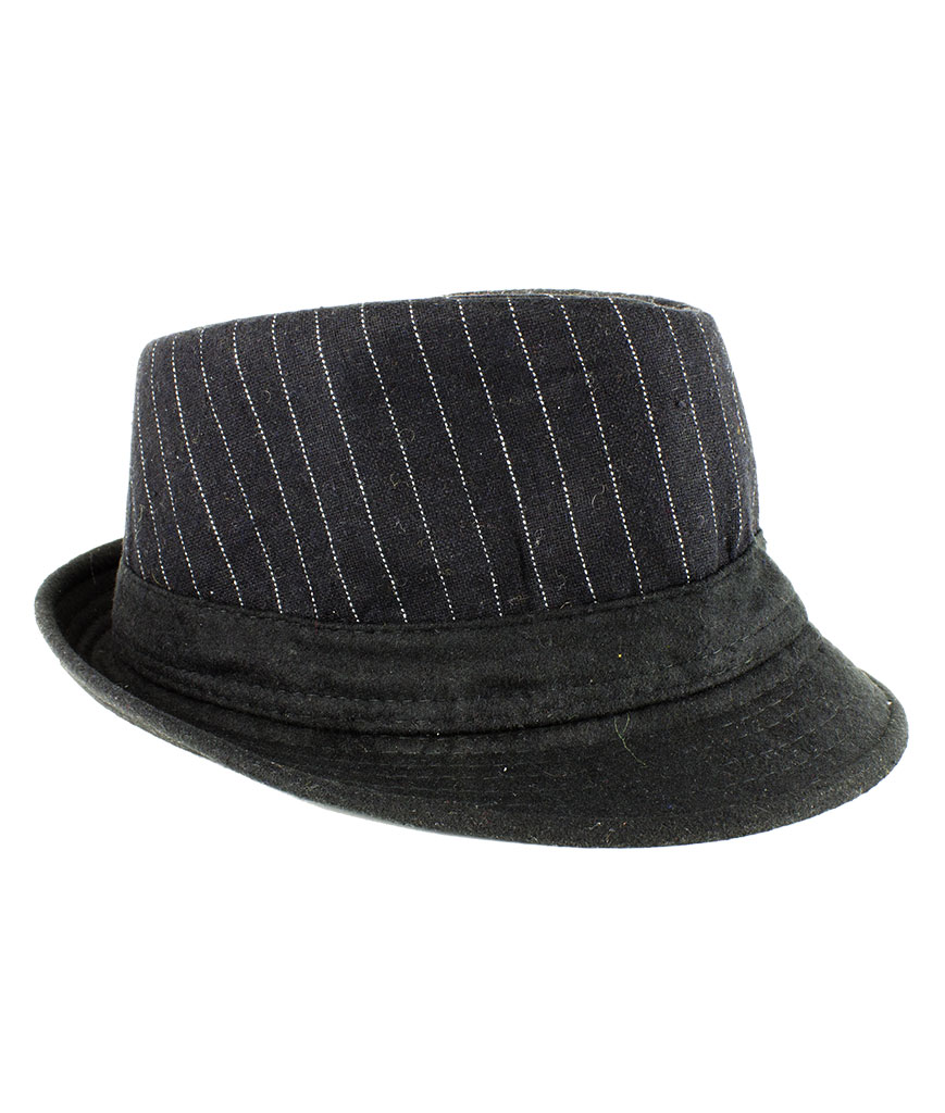 Black Pinstripe Fedora