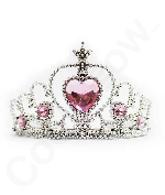 Tiaras with Heart Stones 12-Pack