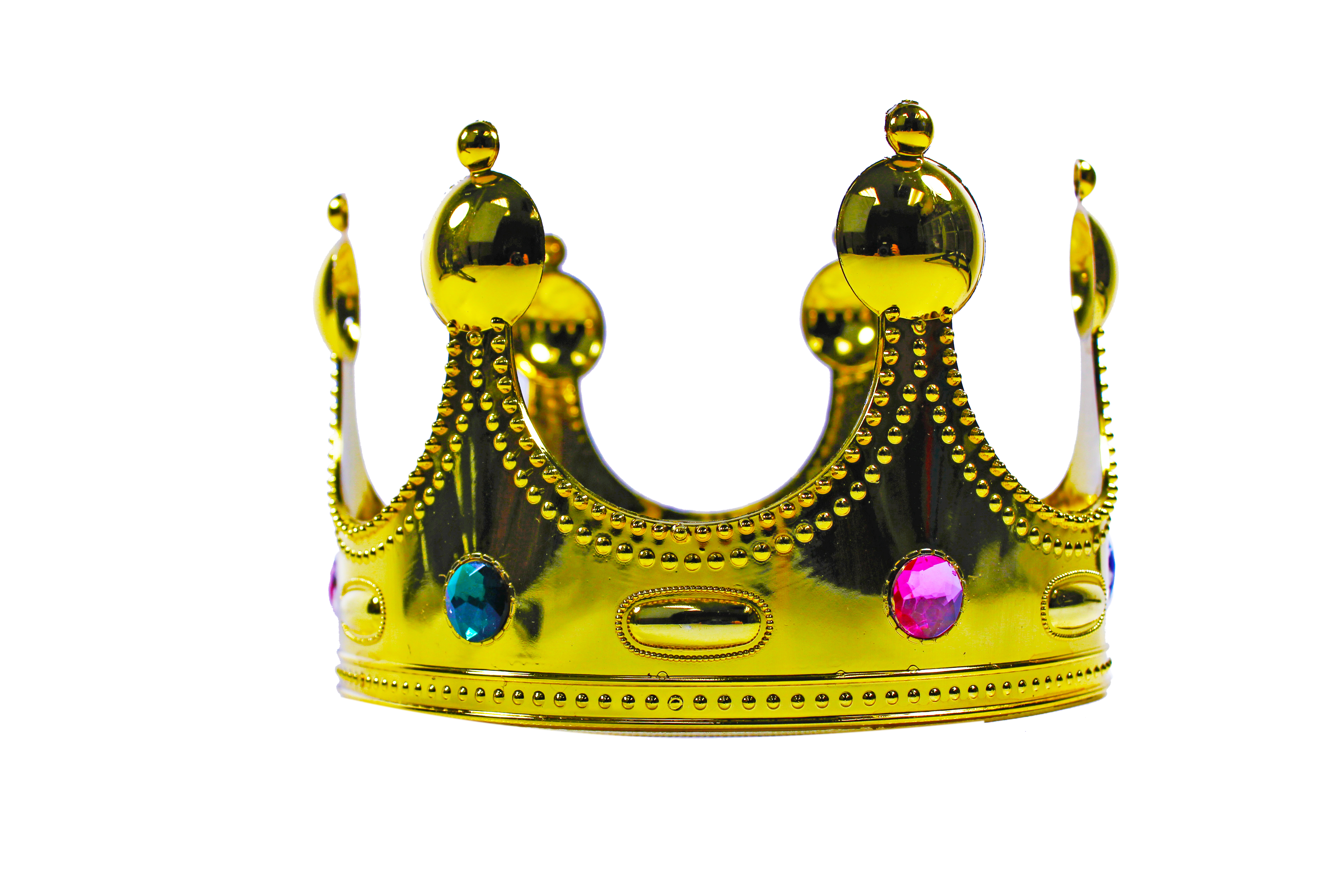 Gold Queen King or Prince Crown