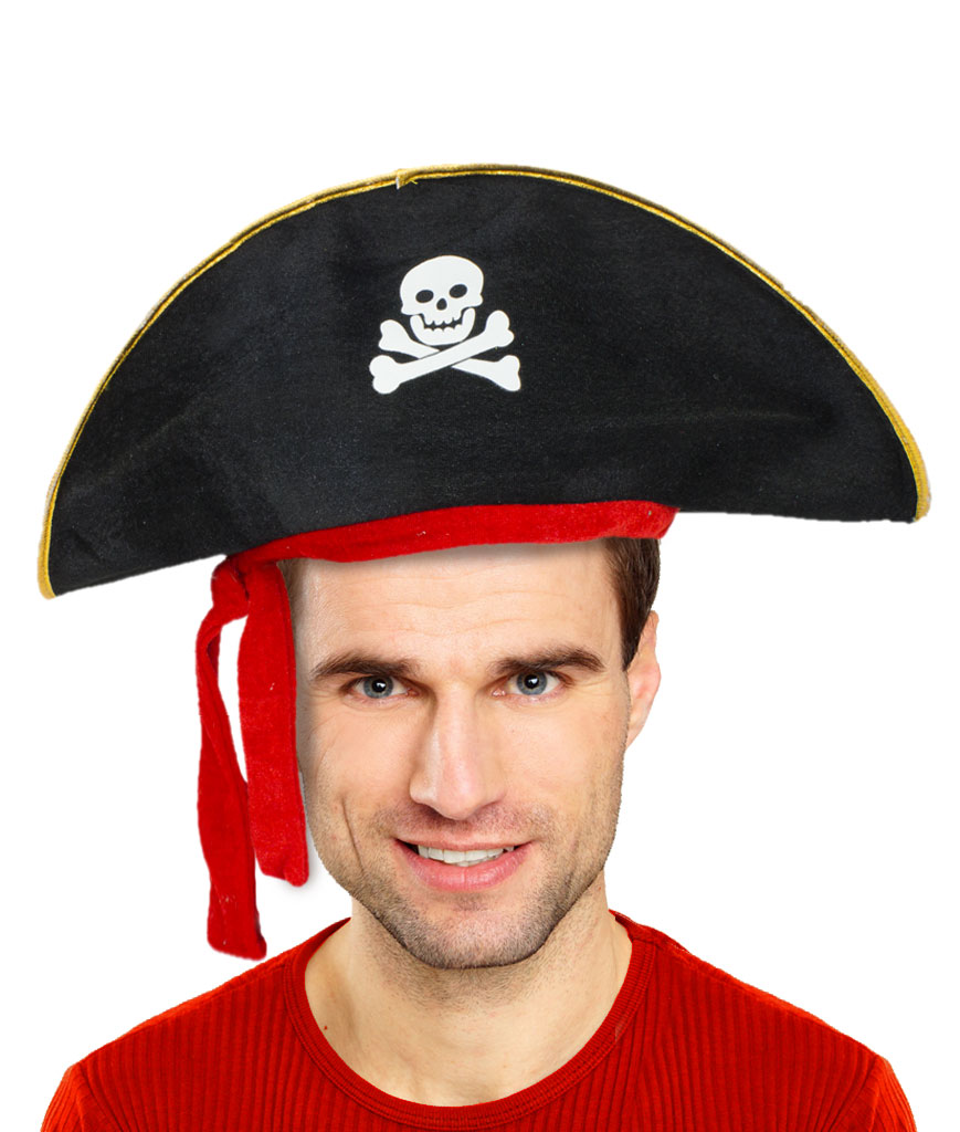Deluxe Felt Pirate Hat