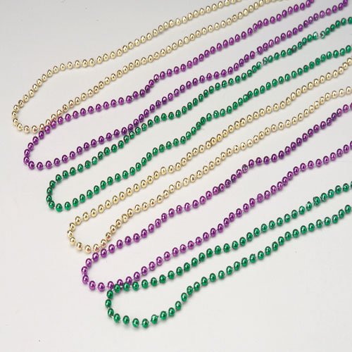 Mardi Gras Bead Necklaces 6mm