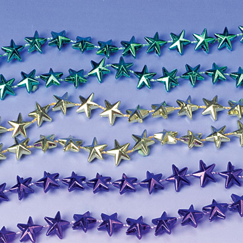 32 Inch Mardi Gras Star Necklaces - 12ct