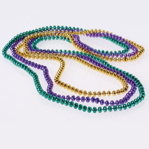 32 Inch Flat Bead Necklaces - 12ct