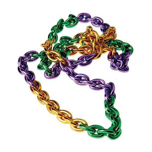44 Inch Mardi Gras Chain Link Necklace