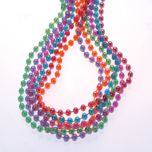 32 Inch Pearlized Round Bead Necklaces - 12ct