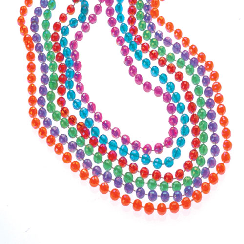 Pearlized Mirror Ball Bead Necklaces