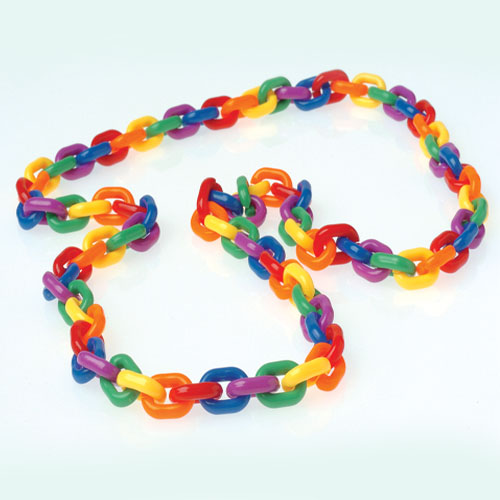 44 Inch Rainbow Chain Link Necklace