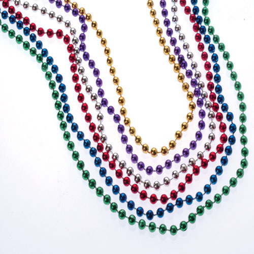 Metallic Bead Necklaces 6mm
