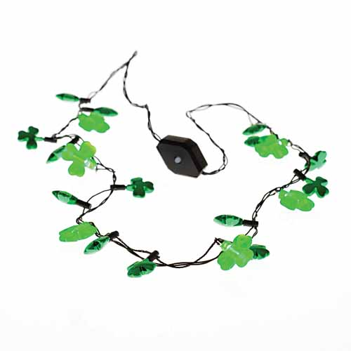 Flashing Shamrock Necklace