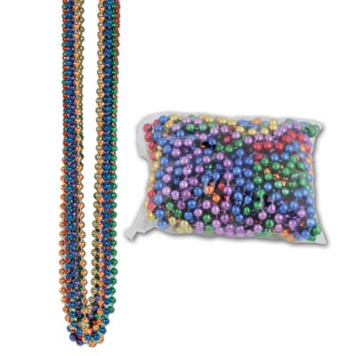 33 Inch 7mm Round Beads - Assorted Colors 12ct