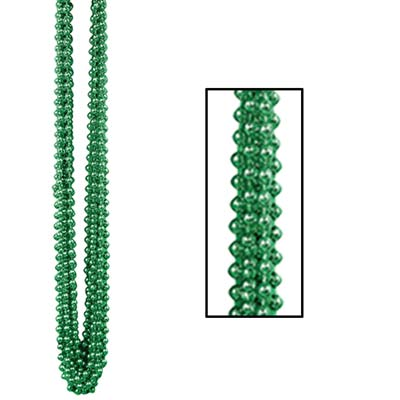 33 Inch 7mm Round Beads - Green 12ct