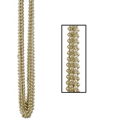 33 Inch 7mm Round Beads - Gold 12ct