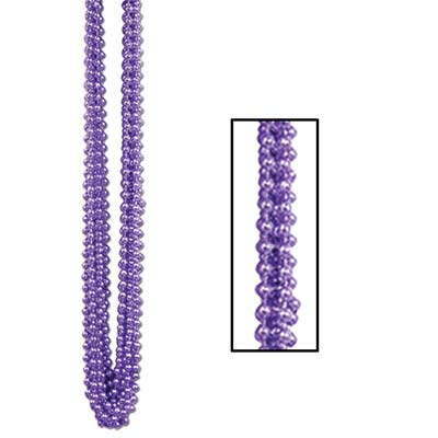 Party Beads - Small Round 7mm x 33 - Purple