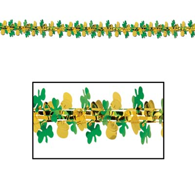 Pot-O-Gold & Shamrock Garland Column 12in x 9ft