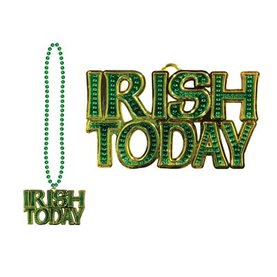 Beads w Irish Today Medallion 36in