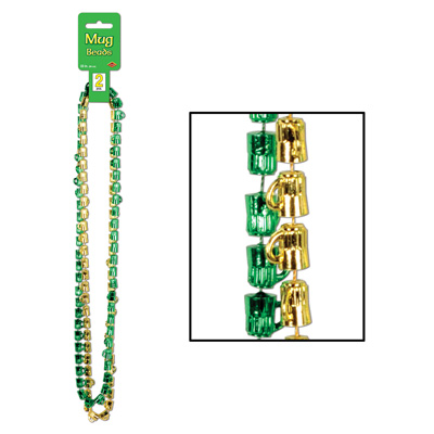 St Patrick Mug Beads 33in 2ct