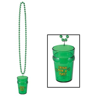 Beads with St Patrick's Day Shot Glass