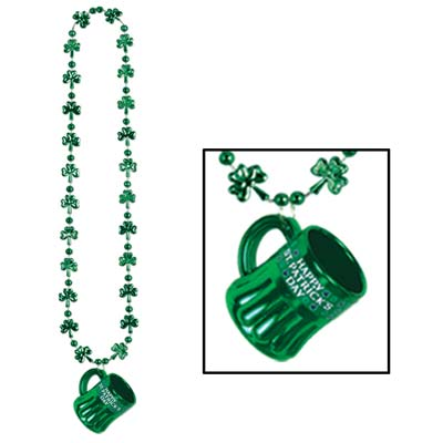 Shamrock Beads wHappy St Pat's Mug 33 Oz