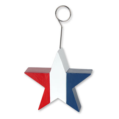 Patriotic Star PhotoBalloon Holder 6 Oz