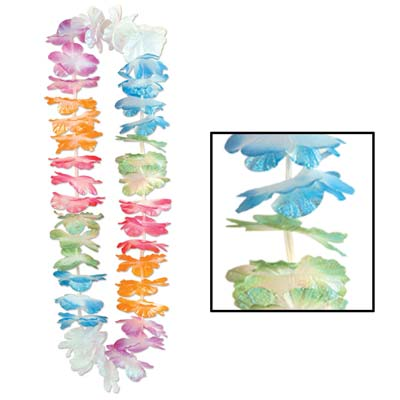Silk 'N Petals Iridescent Lei 40in