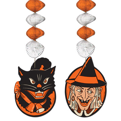 Vintage Halloween Character Danglers 30in