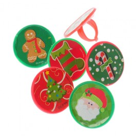 Adjustable Christmas Sticker Rings-48 PIeces