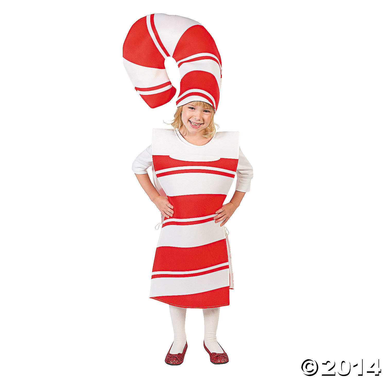 Polyester Candy Cane Costume