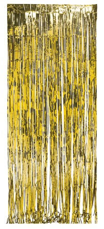 Gold Foil 8x3ft Door Fringe