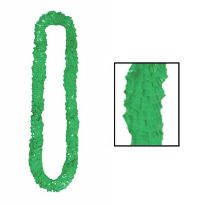 Soft-Twist Poly Leis with UPC Tabs 2.25 x 36in - Green