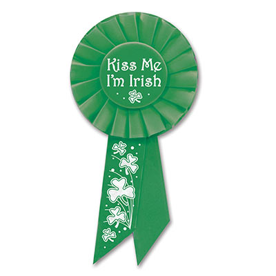 Kiss Me I'm Irish Rosette 3.25x6.5in
