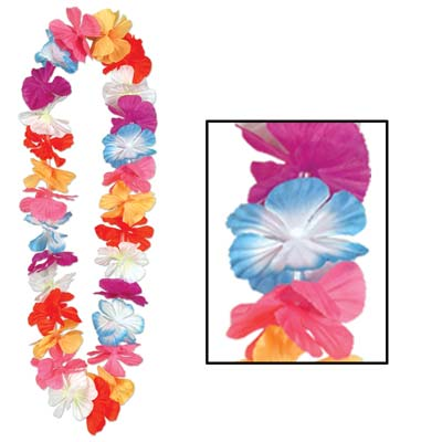 Silk 'N Petals Parti-Color Lei 36in