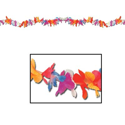 Silk 'N Petals Parti-Color Garland 8'