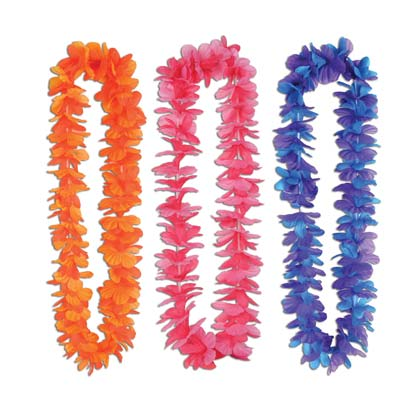 Silk 'N Petals Tropical Sunset Leis 40 Inch