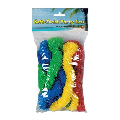 Pkgd Soft-Twist Party Leis 1 x 36 Inch