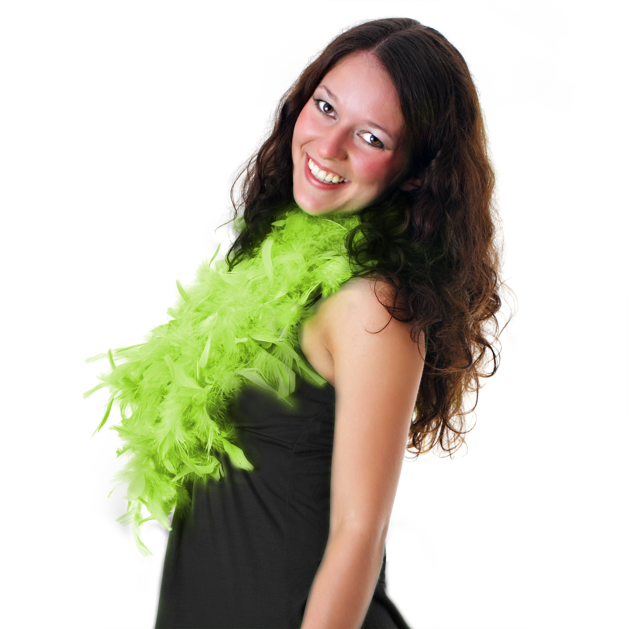 Feather BOA - 6ft Lime Green - 60g