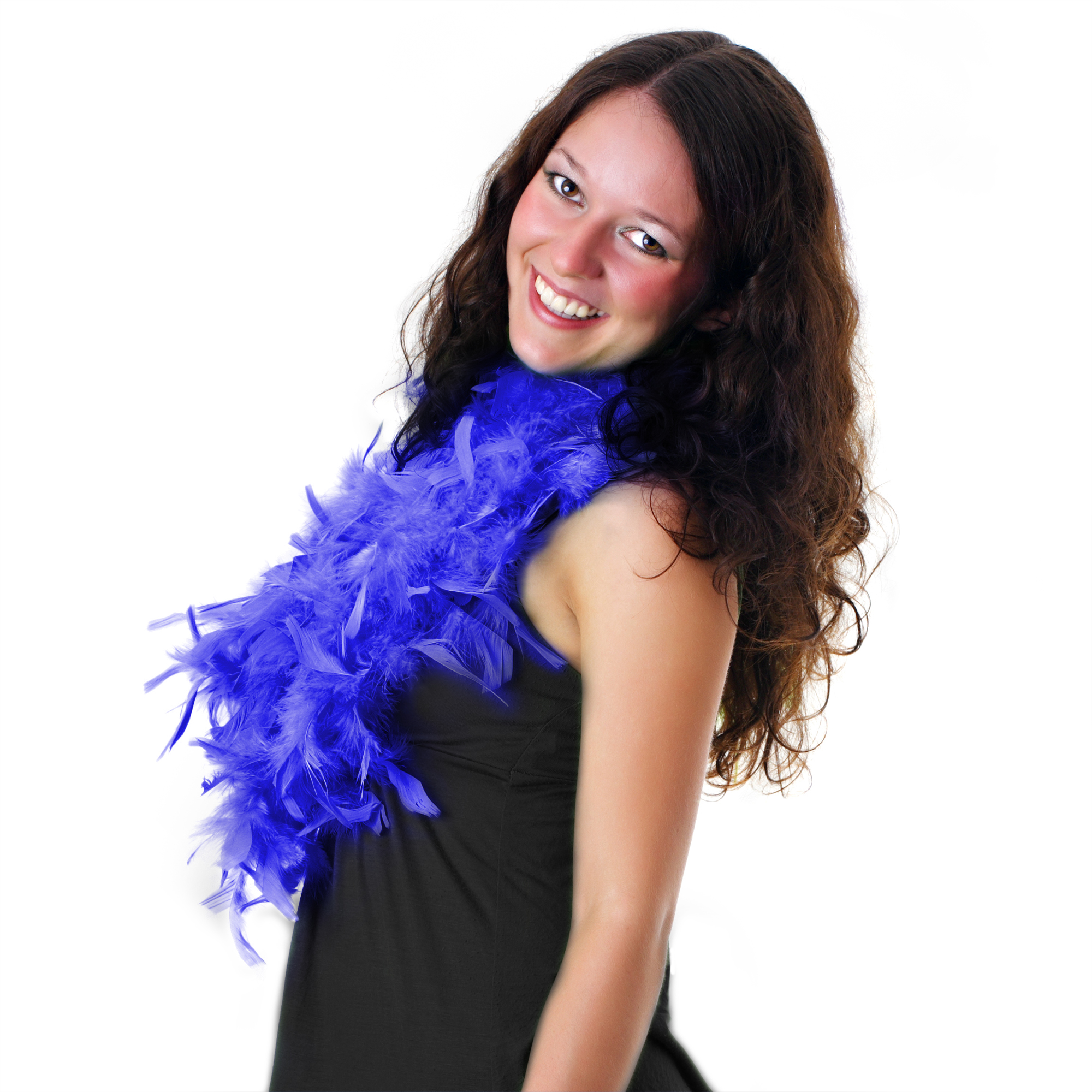 Feather BOA - 6ft Royal Blue - 60g