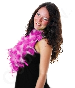 Feather Boa - 6ft Hot Pink and White - 60g